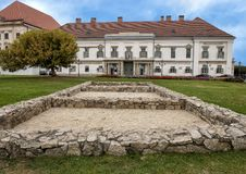 Sandor Palace in Buda Castle District, Hungary. Pictured is the Sandor Palace in the Buda Castle District, Hungary. The Sandor Palace or Hungarian Presidential stock image