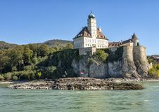 The Schloss Schonbuhel on the South side of the Danube River, Wachau Valley, Lower Austria. Pictured is the Schloss Schonbuhel, an early 12th century castle on royalty free stock photos