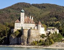 The Schloss Schonbuhel on the South side of the Danube River, Wachau Valley, Lower Austria. Pictured is the Schloss Schonbuhel, an early 12th century castle on royalty free stock photography