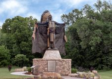 Chief Touch the Clouds sculpture, Edmond, Oklahoma stock image