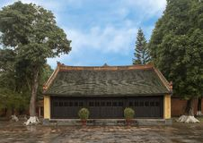 Small building in the Tu Duc Royal Tomb complex 4 miles from Hue, Vietnam. Pictured is a small building in the Tu Duc Royal Tomb complex 4 miles from Hue stock photo