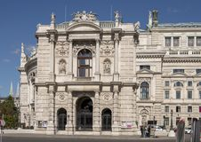 South facade, Burgtheater, Vienna, Austria stock image