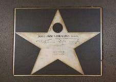 Johann Stauss Sohn star on Vienna`s Walk of Fame royalty free stock image