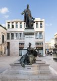 The statue of Sigismondo Castromediano and the personification of Liberty in Lecce, Italy Royalty Free Stock Image