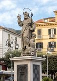 Statue of S. Antonino Abbate, patron saint of Sorrento, Italy. Pictured is a statue of the patron saint of Sorrento, Saint Antonino or Saint Anthony the Abbot Royalty Free Stock Images