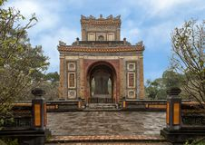 The Stele Pavilion in Tu Duc Royal Tomb, Hue, Vietnam. Pictured is the Stele Pavilion in Tu Duc Royal Tomb complex four miles from Hue, Vietnam. The complex was stock photos