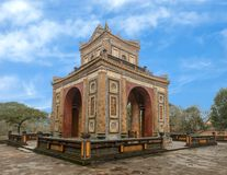 The Stele Pavilion in Tu Duc Royal Tomb, Hue, Vietnam. Pictured is the Stele Pavilion in Tu Duc Royal Tomb complex four miles from Hue, Vietnam. The complex was stock image