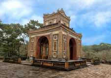 The Stele Pavilion in Tu Duc Royal Tomb, Hue, Vietnam. Pictured is the Stele Pavilion in Tu Duc Royal Tomb complex four miles from Hue, Vietnam. The complex was royalty free stock photography