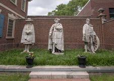 Cast terra cotta sculptures by artist Alexander Stirling Calder in the exterior garden of the Presbyterian Historical Society