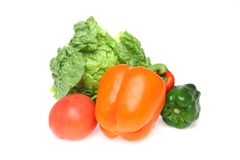Various kind of vegetable in a white background Royalty Free Stock Image