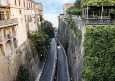 View from the bridge at Piazza Tasso, Sorrento, Italy Stock Image