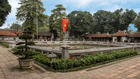 Well of Heavenly Brilliance, third courtyard, Temple of Literature, Hanoi, Vietnam. Pictured is the Well of Heavenly Brilliance Thien Quang Tinh in the third royalty free stock photos