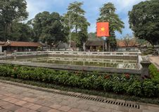 Well of Heavenly Brilliance, third courtyard, Temple of Literature, Hanoi, Vietnam. Pictured is the Well of Heavenly Brilliance Thien Quang Tinh in the third royalty free stock image