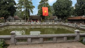Well of Heavenly Brilliance, third courtyard, Temple of Literature, Hanoi, Vietnam. Pictured is the Well of Heavenly Brilliance Thien Quang Tinh in the third stock images