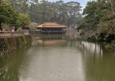 Xung Khiem pavilion in Tu Duc Royal Tomb, Hue, Vietnam. Pictured is Xung Khiem Pavilion in Tu Duc Royal Tomb four miles from Hue, Vietnam. The pavilion overlooks stock photography