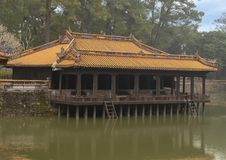 Xung Khiem pavilion in Tu Duc Royal Tomb, Hue, Vietnam. Pictured is Xung Khiem Pavilion in Tu Duc Royal Tomb four miles from Hue, Vietnam. The pavilion overlooks royalty free stock photos