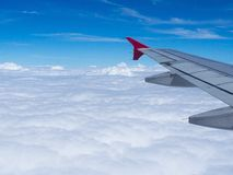 Pictures from an airplane window Royalty Free Stock Photos