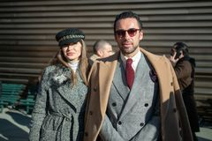 Pitti Uomo 95, Florence, Italy. royalty free stock images