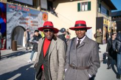 Pitti Uomo 95, Florence, Italy. stock photo