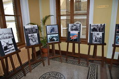 Pictures at the Astro-photo exibition at the UNIVERSitarium astro-symposium. Stock Images