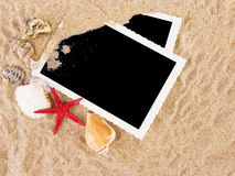 Pictures in a beach concept Royalty Free Stock Image