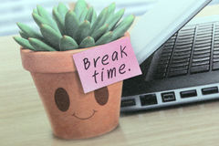 Pictures on the calendar that shows all the time to break. Royalty Free Stock Image