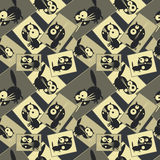 Pictures with cats. Seamless pattern. Vector Royalty Free Stock Photography