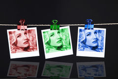 Pictures on the clothesline Royalty Free Stock Photography