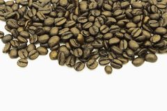 Coffee beans on white background stock images