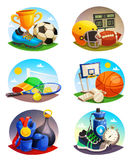 Pictures Collection Of Sport Inventory Royalty Free Stock Images