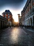 Pictures of covent garden with the sun going down Stock Photography
