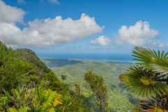 Pictures of Cuba - Baracoa. Landscape view from mount El Yunque over the area around Baracoa Stock Photos