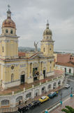 Pictures of Cuba - Santiago de Cuba. Cityview from above on the Cathedral de Nuestra Senora de la Ansunción in Santiago de Cuba against a grey sky Stock Image