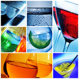 Pictures of different cocktails Royalty Free Stock Images