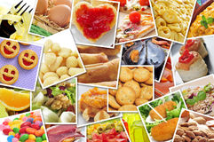 Pictures of different food Stock Image
