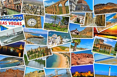 Pictures of different places and landscapes, shot by myself, sim. Mosaic with pictures of different places and landscapes, shot by myself, simulating a wall of Royalty Free Stock Photo