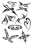 Pictures of different tattoos. The pictures of nine different tattoos royalty free illustration
