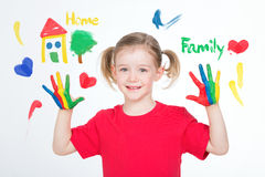 Pictures of the essentials values for one little child Royalty Free Stock Photo