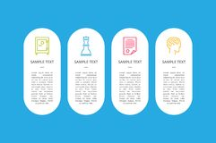 Pictures with Filling Forms Vector Illustration. Pictures of safe, playing chess, paper and head with filling forms for your own text in oval shape vector Royalty Free Stock Photography