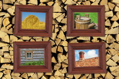 Pictures in frames Royalty Free Stock Photography
