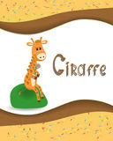 Pictures from the giraffe. For bride-kid Stock Photography