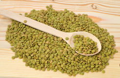 Pictures of green lentils with high nutrition Stock Photography