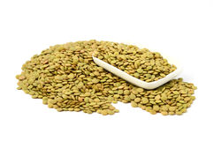 Pictures of green lentils with high nutrition Royalty Free Stock Photo