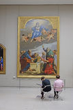 Pictures hall in Louvre Stock Image