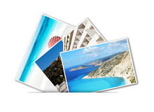 Pictures of holiday. Showing on isolated white background. Your empty copy space Royalty Free Stock Photo