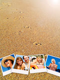 Pictures of holiday people having rest royalty free stock photography