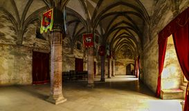 Pictures inside the Corvin Castle. In Romania Royalty Free Stock Photography