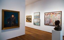 Pictures in interior of San Telmo Museum in San Sebastian royalty free stock image