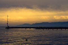 Pictures of the Lake Balaton royalty free stock photo