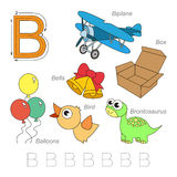 Pictures for letter B Royalty Free Stock Photo